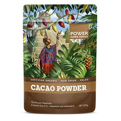 Organic Cacao Powder 500g Power Super Foods | Superfoods