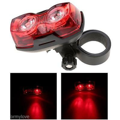 Waterproof Cycling Bicycle 2 LED Bright Tail Light Safety Bike Rear Lamp Set Hot