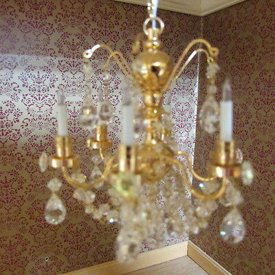 Chandelier ~ SIX ARM ~ DISCOUNTED ~ Doll House Miniature ~ 1/12 scale