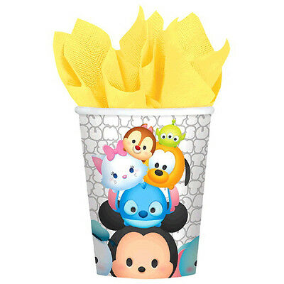 8 Disney Tsum Tsum Birthday Party 9oz Disposable Paper Beverage Cups