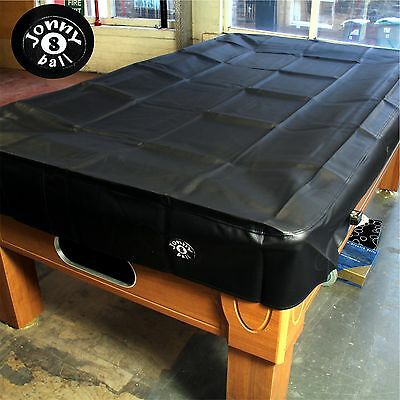 Jonny 8 Ball Heavy Duty Water Resistant Pool Table Cover - 7FT BLACK