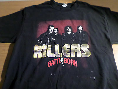 THE KILLERS BATTLE BORN FALL TOUR 2012 ALBUM COVER DOUBLE SIDED CONCERT T, large