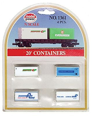 Model Power 490-1361 N 20' Containers Assortment Consolidated Freightways, K&N,