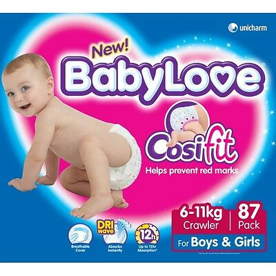 Babylove Nappies Crawler  JUMBO 87(Limit of 1 per order) NEW
