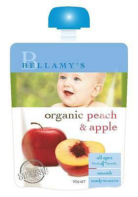 Bellamys Peach & Apple 90G NEW Cincotta Chemist