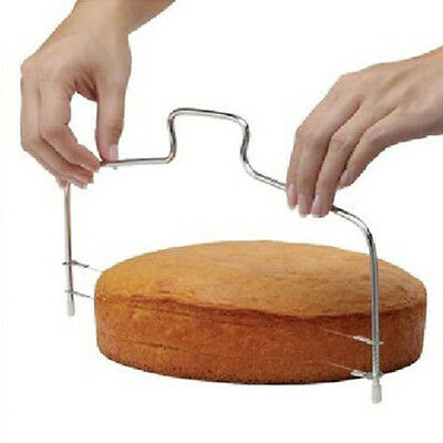 Adjustable Round Stainless Steel Cake Ring Mold Layer Slicer Cutter DIY Tool