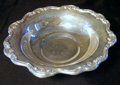 Vintage Gorham Heritage 7 Inch Silver Plated Candy Dish Bowl