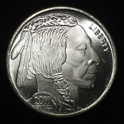 Liberty Indian Head Buffalo 2011 USA Silver 1 troy oz .999 Fine Silver Round ST