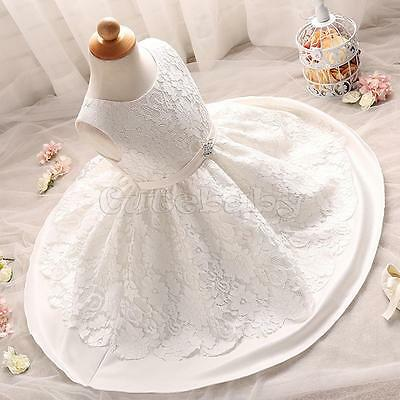 Flower Girl Baby Princess Dress Baptism Christening Gown Wedding Party Dresses