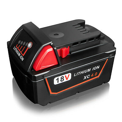 Milwaukee M18B4 18v 4ah li-ion red Replacement battery M18 48-11-1820 1828 1815