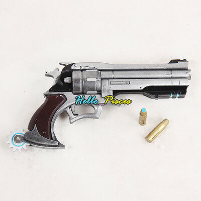 """Exclusive Made Anime Game Overwatch OW MCCREE's Gun Weapon PVC Cosplay Prop 13"""""""
