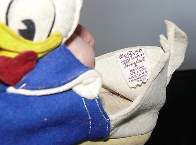 Vintage Donald Duck Walter E Disney Childs Slippers Size 11