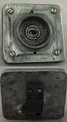 New vintage industrial switch BSEN approved easy  RETROFIT to pattress box