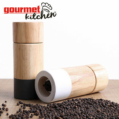 QUALITY Manual Wood Pepper Mill Salt Grinder Spice Tool Kitchen Home Muller 6""