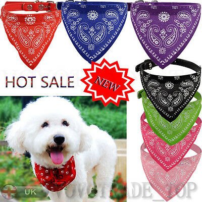 Dog Cat Puppy Pet Neck Scarf Bandana Triangle Neckerchief With Collar Adjustable