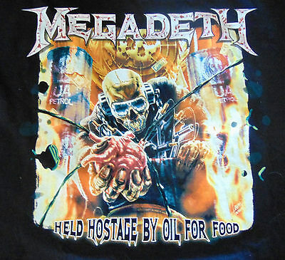 """MegaDeth 2007 Tour  """"Held Hostage By Oil for Food""""  XL"""