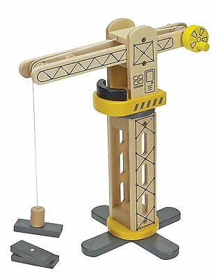 42304 Magnetic Wooden Crane and Cargo Kids Toy Set Christmas Gift Present