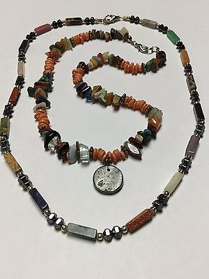 Wholesale Jewelry Lot Of 2 Vintage Retro Natural Gemstone Bead Necklaces Br25