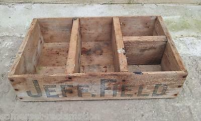 """Reclaimed Wooden Crate With 4 Sections 16½""""x10"""""""
