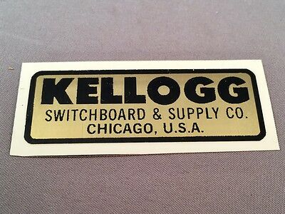 Antique Vintage  Telephone Water Decal - Kellogg - SKU - 23131