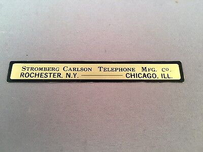 Antique Vintage Telephone Water Decal - Stromberg Carlson - SKU - 23182