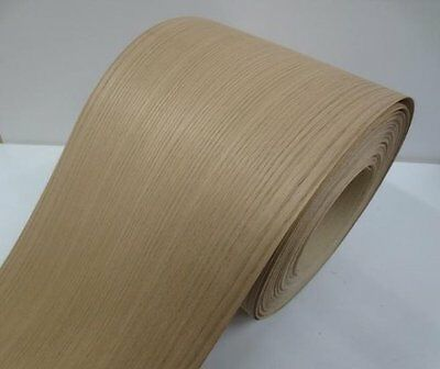 Real wood Veneer Red oak european with Hot melt adhesive iron-on 30cm Wide