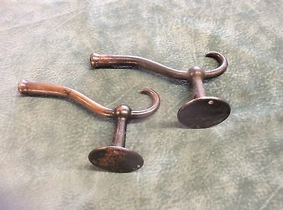 Two Large Antique Mission Arts Craft Craftsman Wall Coat Hat Hook