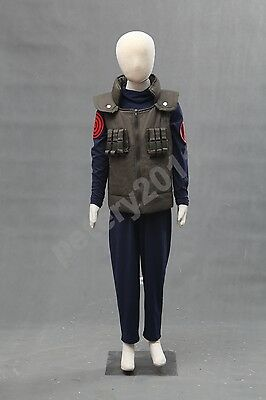 Naruto Hatake Kakashi Kids Leaf Village Children Uniform Anime Cosplay Costume