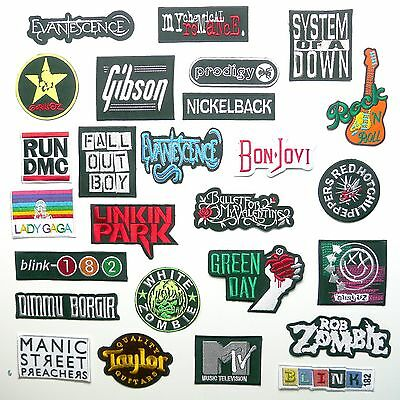 MODERN ROCK BAND PATCHES - Any Patch Only £1.20, UK SELLER! NEW!