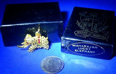 "Beautiful House of Borvani ""Maharajah Lucky Elephant"" Gold Plated Charm"