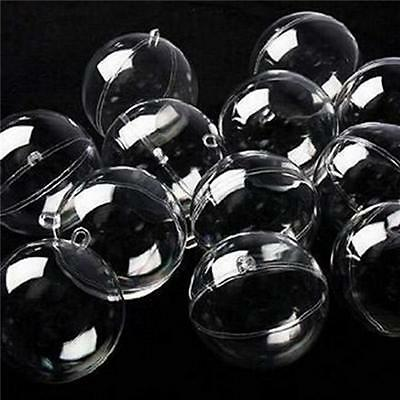 12x Transparent Ball Christmas Baubles Fillable Hanging Decoration Ornaments
