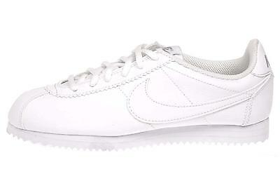 Nike Cortez GS Kids Youth Boys Girls Casual Shoes White 749502-100