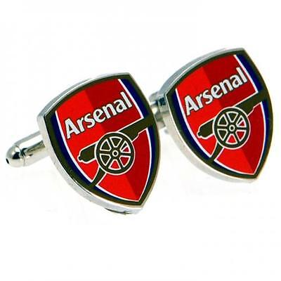 Official Licensed Football Product Arsenal Cufflinks Colour Crest Gift Box New