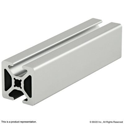 """80/20 Inc 10 Series Two Opp Smooth TSlots Aluminum Extrusion 1004-S x 18"""" Long N"""