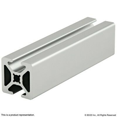 """80/20 Inc 10 Series Two Opp Smooth TSlots Aluminum Extrusion 1004-S x 60"""" Long N"""