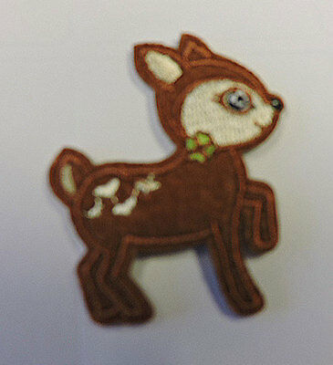 Embroidered Iron On Baby Deer Applique 3202-K