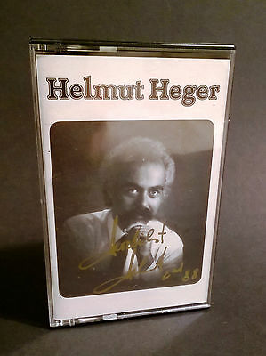 (MC017) MC Helmut Heger, Demoband mit original Autogramm am Cover