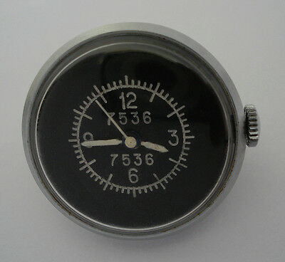 Rare USSR Soviet Air Force aircraft gun camera clock watch ZIM «button» 7536