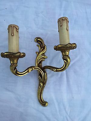 Sconce antique French bronze wall light ornate Louis XV style