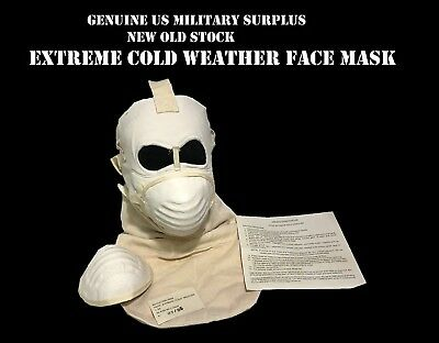 USMC ARMY EXTREME COLD WEATHER MASK w/ 2 FILTERS USGI US MILITARY SURPLUS GEAR