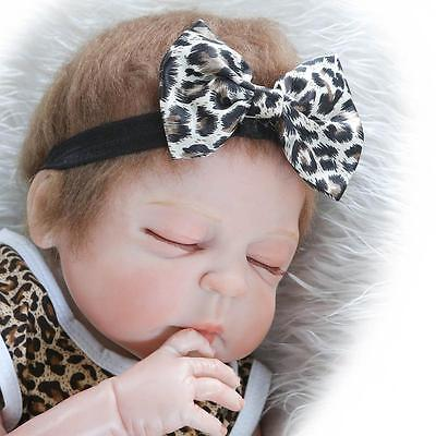"23"" Reborn Baby Dolls Newborn Lifelike Full Body Silicone Vinyl Girl Baby Doll"