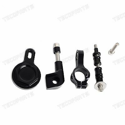Black Steering Damper Bracket Mounting Kit For Yamaha YZF-R1 1998-2003 2004 2005