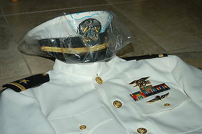 US NAVY SEAL Dress White Choker Uniform 40 USN - CAD $254 ...