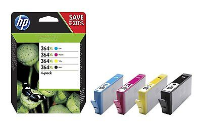 4 Set Original Genuine HP 364XL Black Cyan Magenta Yellow Ink Multi Combo