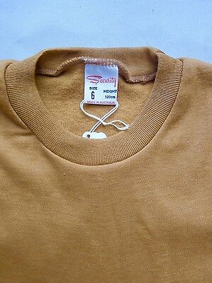 Vintage retro top true 60s unused boys childrens warm wind-cheater top NOS