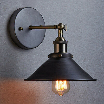 Industrial Retro Vintage Wall Light Sconce Lamp Cafe Edison Bulb Indoor Lighting