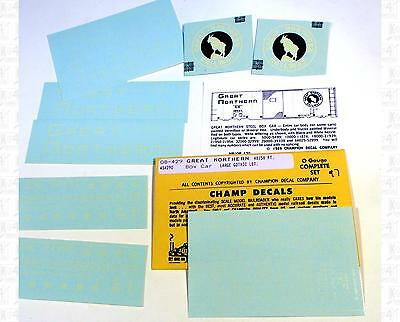 Champ O Decals Great Northern Boxcar White OB-429 BW Logo