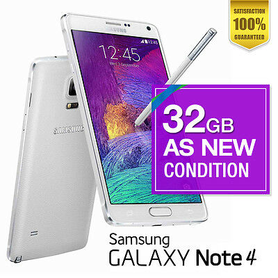 AS NEW Samsung Galaxy Note 4 32GB White Unlocked Android Smartphone