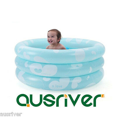 3-Ring Round Inflatable Bath Tub Swimming Pool Baby Toddler Heat Preservation