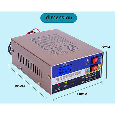 1x Vehicle 12V/24V 100AH Electric Car Dry&wet Battery Charger Smart Pulse Repair